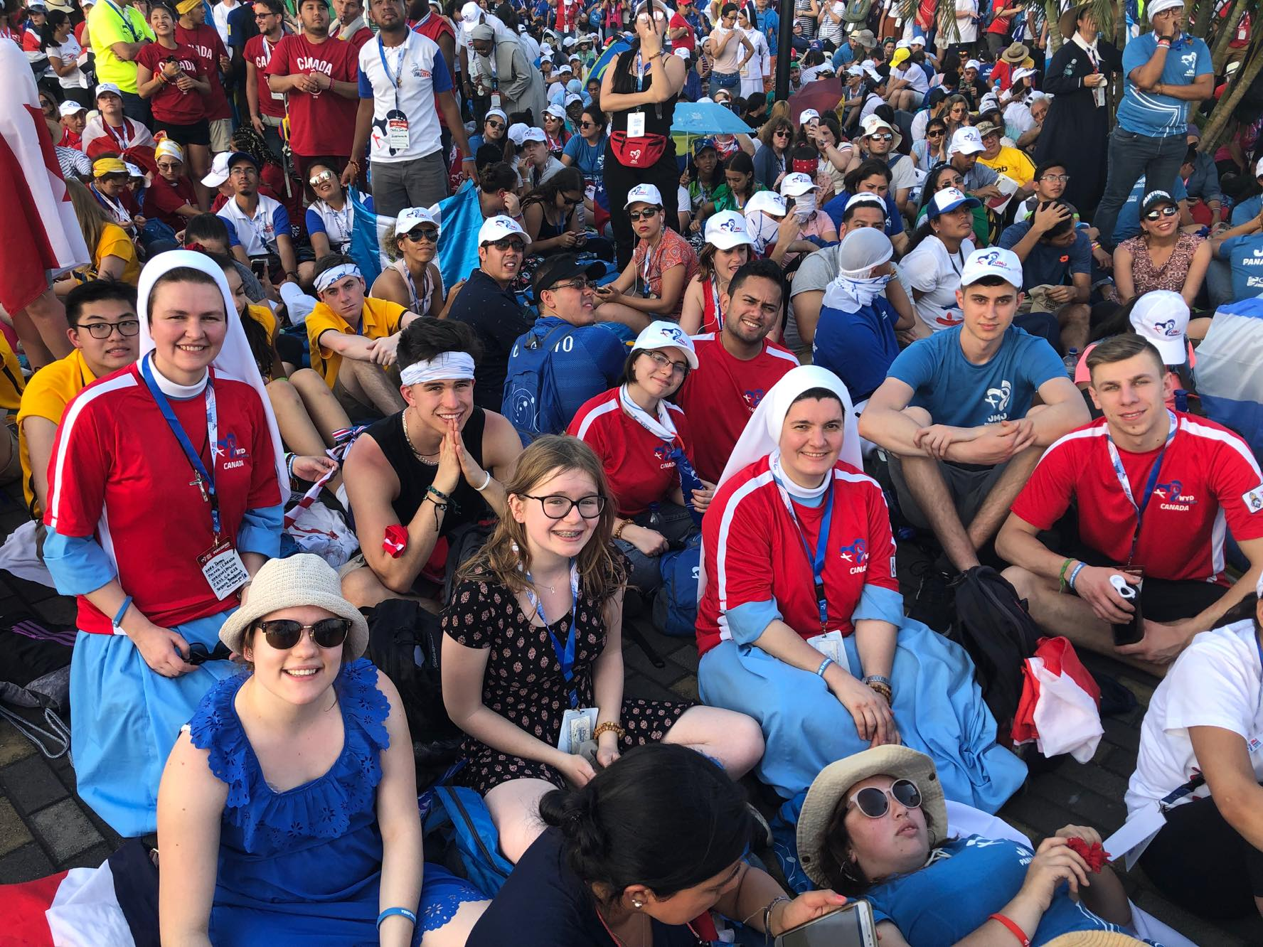 Local World Youth Day pilgrims among those lining the streets to