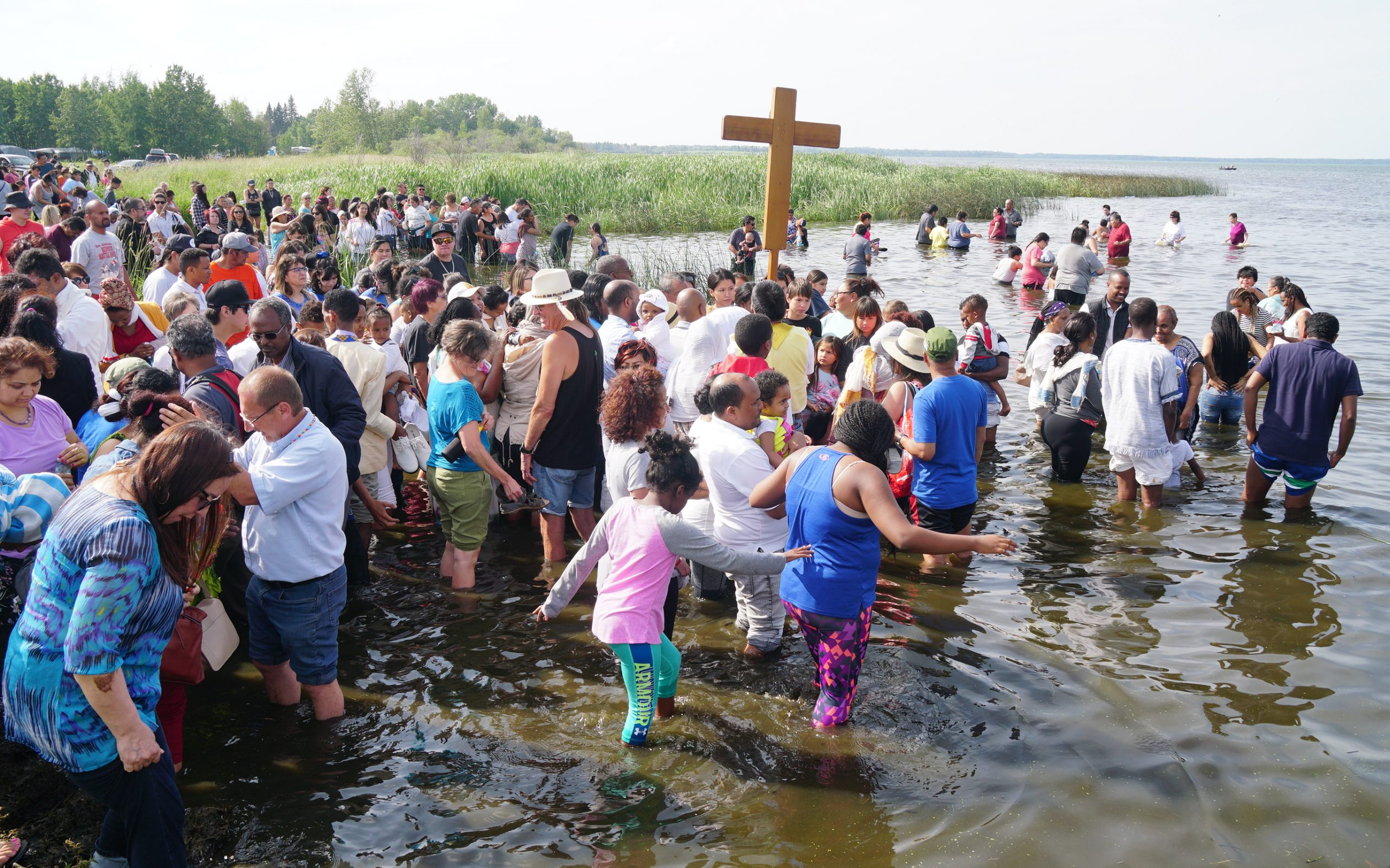 Pilgrims find healing and renewal in the waters of Lac Ste