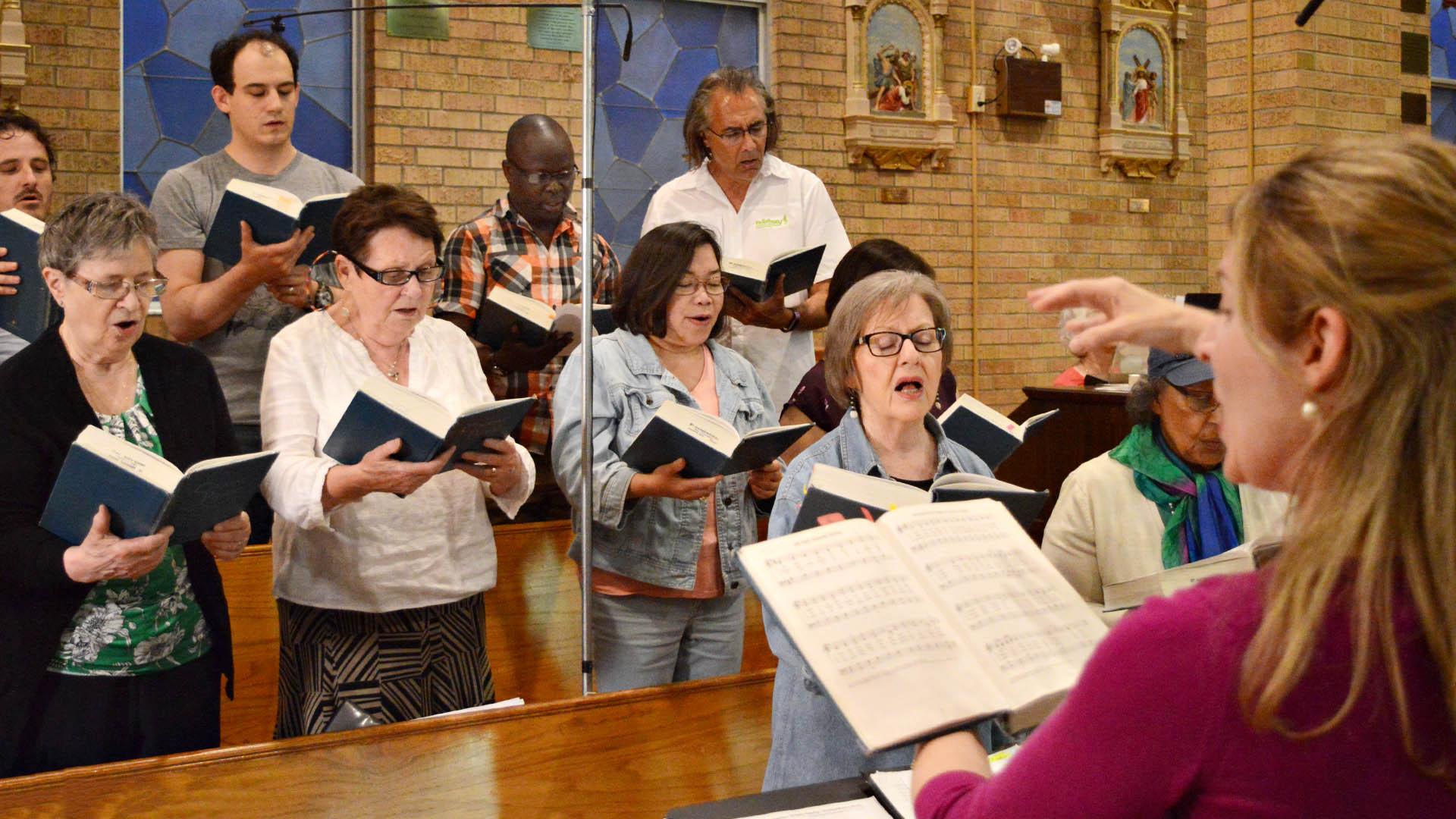 Gregorian choir practice